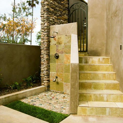 Irresistible design of the new Outdoor Shower!