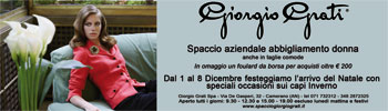 Fantastic occasions at Giorgio Grati