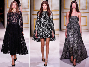 Giambattista Valli, haute couture SS 2013 runway: Animalier inspirations and Renaissance style