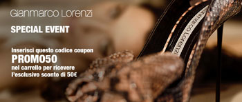 Gianmarco Lorenzi:  50 Euro Discount on In-outletVillage.it