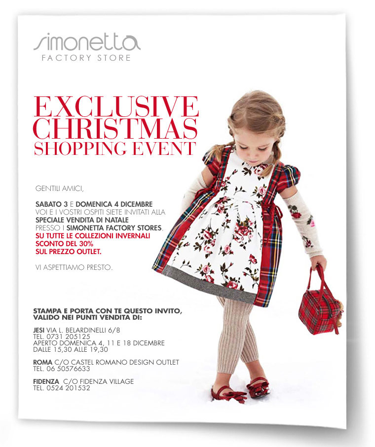 Simonetta Exclusive Christmas shopping events