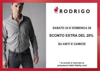 Rodrigo Winter's Essentials:  20% off on suits and shirts