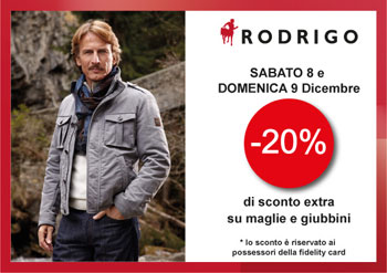 8th December at Rodrigo: shopping weekend for your Christmas!