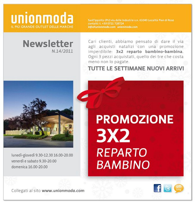 Union moda: december great occasions!