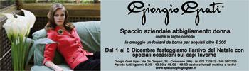 Fantastic occasions at Giorgio Grati
