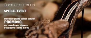 Gianmarco Lorenzi:  50 Euro Discount on In-outletVillage.it