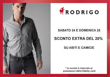 Rodrigo Winter's Essentials:  20% off on suits and shirts