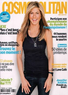 On cover as Jennifer Aniston