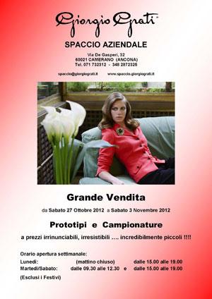 Sample sale at Giorgio Grati